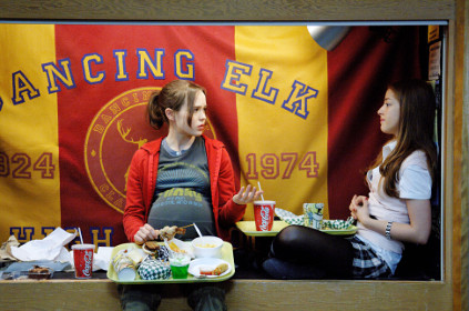 Ellen Page and Olivia Thirlby in Juno