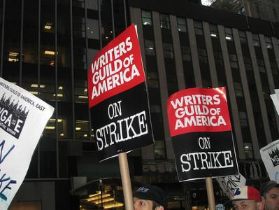 Strikers in New York