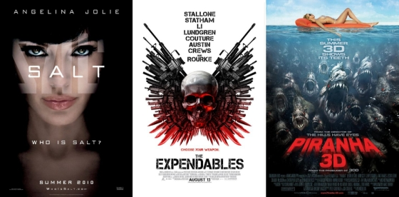 UK Cinema Releases 20-08-10 / Salt / The Expendables / Piranha 3D