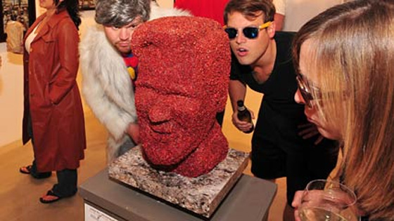 Kevin Bacon statue made out of Bacon
