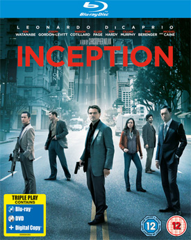 Inception on Blu-ray cover