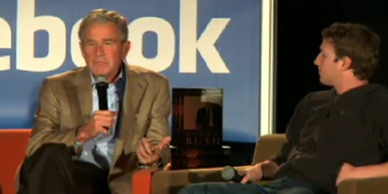 Bush at Facebook