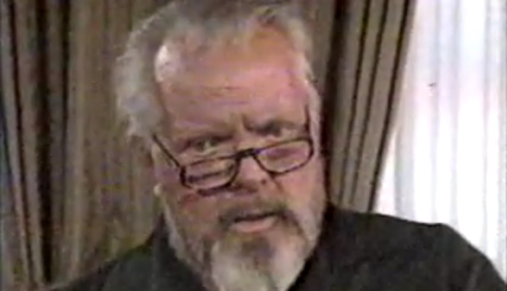 Orson Welles a week before he died in 1985