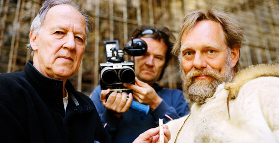 Werner Herzog filming Cave of Forgotten Dreams