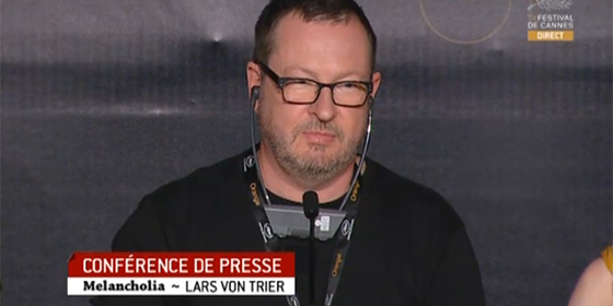 Lars Von Trier at the Melancholia press conference
