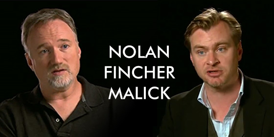 Nolan and Fincher on Malick
