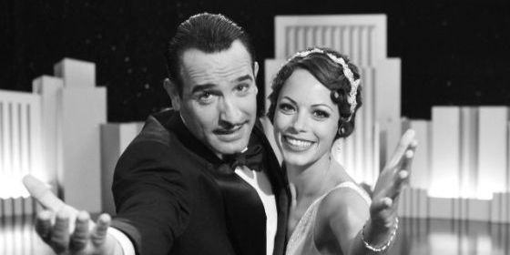 Jean Dujardin as George Valentin and Berenice Bejo as Peppy Miller in Michel Hazanavicius's film THE ARTIST. Photo: Entertainment/The Weinstein Company.