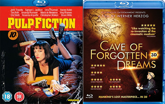DVD & Blu-ray Picks 18-10-11 / Pulp Fiction & Cave Of Forgotten Dreams