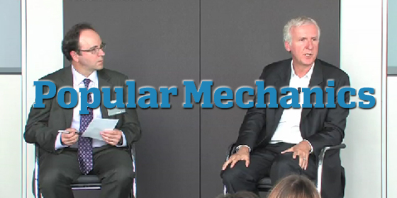 Jim Meigs and James Cameron discuss Popular Mechanics and technology