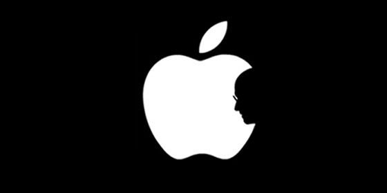 Steve Jobs tribute logo by designer Jonathan Mak