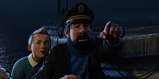Tintin and Captain Haddock in Secret of the Unicorn