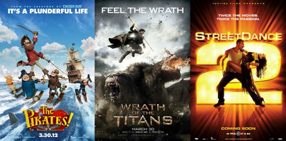 UK Cinema Releases 30-03-12